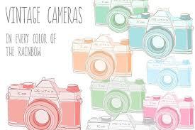 Vintage Cameras Images PSD Vector