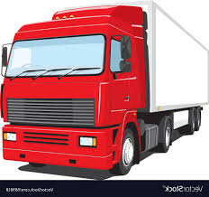 Best Free Red Semi Truck Vector Design