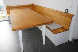 eckbank und tisch mit schubladen eiche massiv korpus weiß
