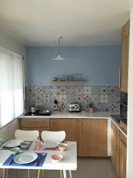 peinture credence cuisine crédence de la cuisine leroy merlin gadsby bleu et gris cuisine