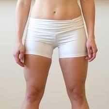 Fashionistas White Yoga Shorts