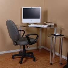 L Shaped Computer Desk by Furniture Inspiring L Shaped Glass Clear Top Computer Desk With