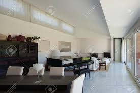 100 A Modern House Dining Room Of Interior Stock Photo Picture Nd