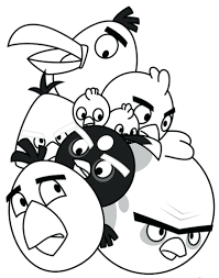 Free Angry Birds Star Wars Coloring Pages Print Space Printable Online Full Size