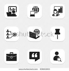icon bureau set 9 editable bureau icons includes stock vector 656816821