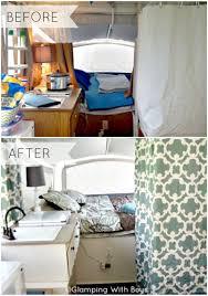 Pop Up Camper Remodel Before After