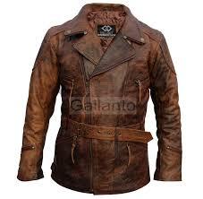 eddie mens 3 4 motorcycle biker brown distressed vintage leather