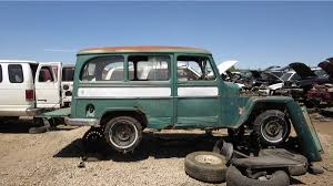 Junkyard Treasure: 1956 Willys Jeep Station Wagon | Autoweek Rare Factory Panel Wagon 265 Sbc Swapped 1957 Willys 44 Bring A Jeepdraw Part Ucolors Jamies 1960 Pickup Truck The Build Jeep Wikipedia How To Swap Barnfind Onto Wrangler Yj Chassis 1962 First Drive Trend Knowledge Center Trucks The Highs And Lows Defense Contractor Plans Successor Based On Cohort Outtake When Pickups Were Work Parts Fishing What I Started 55 Truck