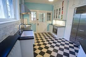 Black Linoleum Flooring Vintage And White Kitchen Sheet