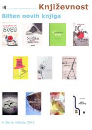 Novi naslovi Književnost 25 2 2016 by Gradska knjižnica