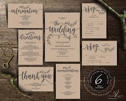 We Do Wedding Invitation Cards Suite Instant Download PDF