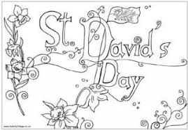 St Davids Day Colouring Pages