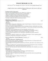 Sample Resume For Retail Job Pharmacist Objective