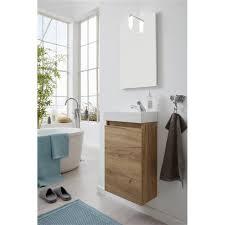 badezimmer set 4 teilig eiche gold waschbeckenunterschrank waschbecken spiegel und led badle ch