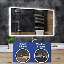 hobart badspiegel mit led beleuchtung spiegel heizmatte