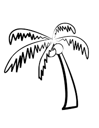 Printable Palm Tree Coloring Page From FreshColoring