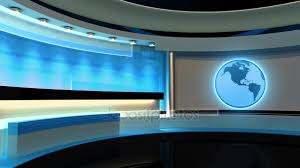 Tv Studio News Loop Earth Globe The Perfect