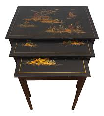 1940s Japanese Black Lacquer Nesting Tables With Hand Painting - Set Of 3 1940s Chinoiserie Mahjong Card Table Set 5 Pieces At 1stdibs Kitchen Design Lovetoknow Wooden Poker Chairs Antique Rare Vintage Set Of 4 Stakmore Folding Chairscarved Whiskey Barrel Back Swivel Base Exceptional Brassinlaid Or Gaming In The Neoclassic Manner Vintage 1940s Club Chair Expanding Tables Grow To Suit Needs Trader Why Phillipe Starcks Ghost Chair Is Here For Eternity Pair Armchairs Easy Attributed Jean Royere