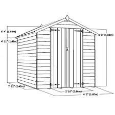8x6 Wood Storage Shed by Flash Reduction 8 X 6 Overlap Apex Shed With Double Doors 2