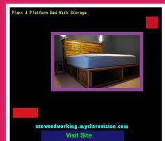 queen size platform bed with storage plans 075906 woodworking