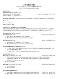Science Resume Template 6
