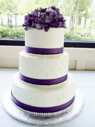 Purple Round Wedding Cake Idk About The Flowers On Top But Like Rest