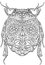 Lovely Inspiration Ideas Beetle Animal Coloring Pages Bug Abstract Doodle Zentangle Colouring Adult Detailed Advanced Printable Kleuren Voor