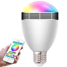 changeable color wireless bluetooth speaker rgb color smart led