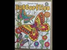 Butterflies Coloring Book For Adults Flip Through