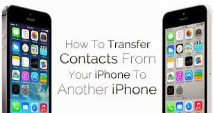 How To Transfer Contacts From e Iphone To Another New Iphone