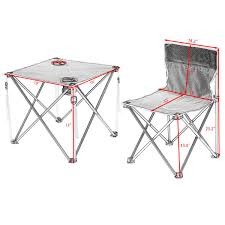 Portable Outdoor Folding Table Chairs Set Camping Beach ...