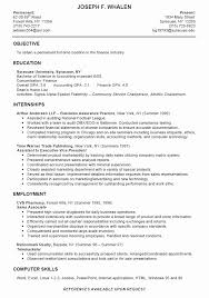 Dissertation Sample Resume With No Work Experience College Graduate Best Of Intern Samples As Student Has