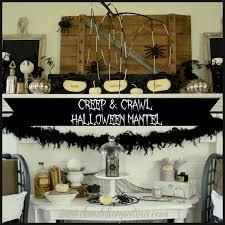 Halloween Mantel Scarf by Creep U0026 Crawl Halloween Mantel Dandelion Patina