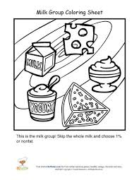 Dairy Food Group Coloring Sheet