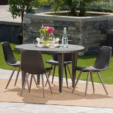 Greta Outdoor 5-piece Round Dining Set By Christopher Knight Home Modern Rustic 5piece Counter Height Ding Set Table With Storage Shelves Arlington House Trestle With 2 Upholstered Host Chairs Side And Bench Slat Back All Noble Patio Round Wicker Outdoor Multibrown Details About Delacora Webd48wai 5 Piece Steel Framed Barnwood Conference Room Tables 10 Styles To Choose From Ubiq Imagio Home 3piece Drop Leaf Black Leg 4 Best Spring Brunches Argos Tribeca Oak Two Farmhouse Pine Action Charcoal Liberty Fniture Industries Spindle Chair Of