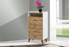 kommode sideboard schlafzimmer schubladen 63cm weiß wotan eiche