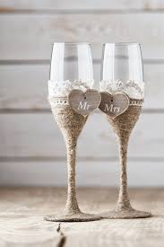Wedding Toasting Glasses Rustic By InesesWeddingGallery