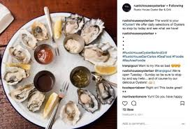 A Plate Of Oysters At Rustic House In San Carlos Posted To The Restaurants Instagram