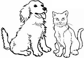 Coloring Pages Of Kittens And Puppies To Print