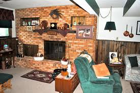 Paint Colors Living Room Red Brick Fireplace by Fireplace And Wood Paneling Paint Dilemma