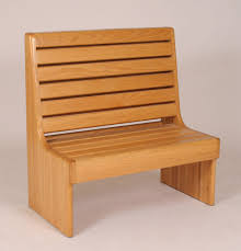 wood bench with back treenovation