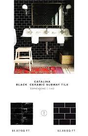 black ceramic subway tile copycatchic