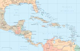 Central America Caribbean Political Map