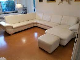 wohnzimmer coach sofa echtleder weiß top zustand