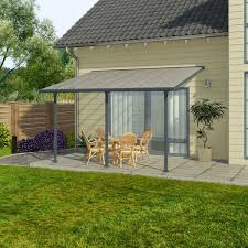 pergola adossee pas cher chalet jardin pergola alu adossée couv terrasse 3 x 4 m gris