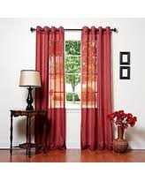 Blue Crushed Voile Curtains by Burgundy Sheer Curtains Sales U0026 Deals