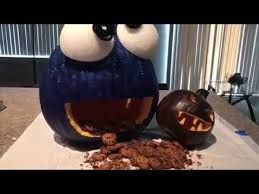 Nerdy Nummies Pumpkin Carving by Pumpkin Carving Cookie Monster Youtube