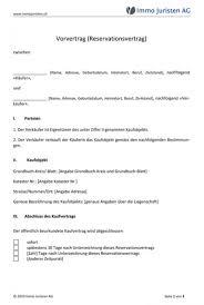 vorvertrag hauskauf muster pdf