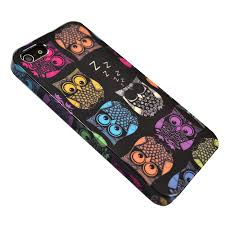 and Case Hardcase for iPhone 5S 5 Sherbert Owls
