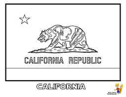 California State Flag Coloring At Pages Book For Kids Boys Clipart